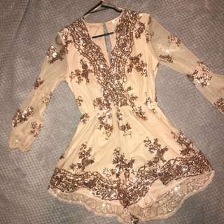 Sparkly playsuit