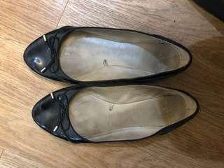 Zara Black Patent Flats