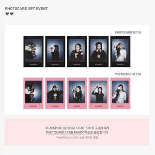 WTB > Blackpink Lightstick's photocard set(Pink Ver. Only)