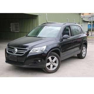 2010年 福斯 TIGUAN 2.0 SUV 黑色 專營台灣優質認證中古車-二手車