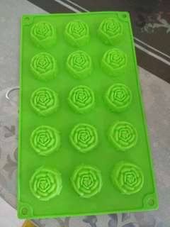Silicone mold.  Small size roses