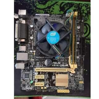 Asus H81M-Dplus Intel Core i5-4460