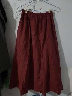 🔴私物🔴日牌SM2 深酒紅傘狀雙口袋半身裙
