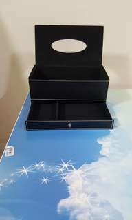 Tissue box with drawer