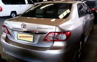 Toyota Altis 1.6V 2011 Top of the line