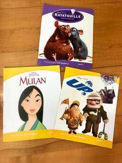 👍95%新! 培生出版 迪士尼英文故事書 3本 Pearson English Kids Readers 3 Books