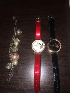 Playboy Watch plus bracelet