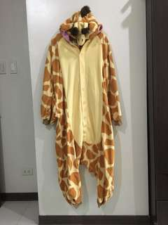 REPRICED!!! Giraffe Adult Onesie Medium
