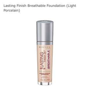 Rimmel lasting finish breathable foundation (light porcelain)