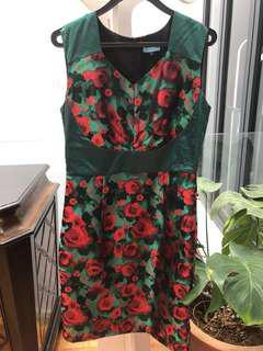 Fraiche rose/ green dress