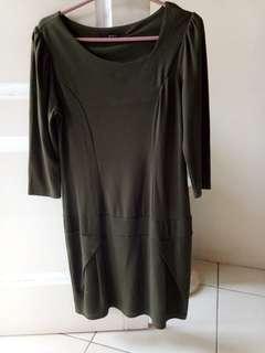 Dress wrn hijau