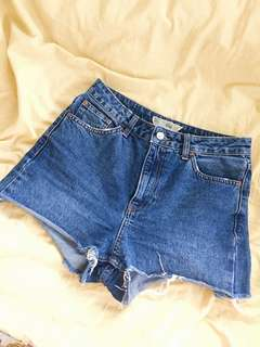 TOPSHOP MOM SHORTS HIGH WAISTED