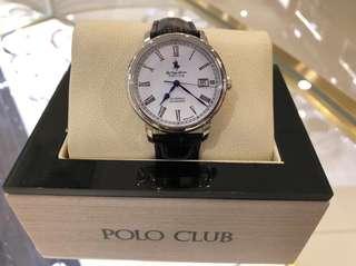 🇬🇧英倫風-POLO CLUB.男士機械錶 40mm錶面 真皮錶帶 專櫃$2498 正品 全國聯保2年.快!