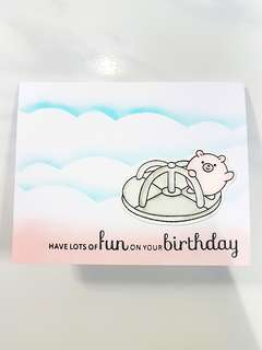 Handmade Pig Birthday Card