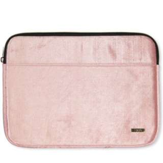 Typo Pink Velvet Macbook 13 Inch Sleeve