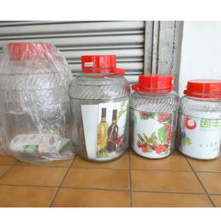 Chuang Feng Glass Container with Handle