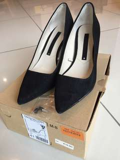 Zara High Heel Black Shoe