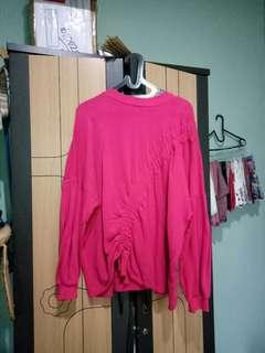 Pull & bear shocking pink oversized sweater