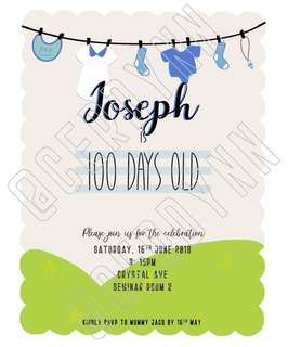 Invitation Card Customisation - 20