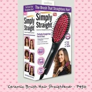 Ceramic Brush Hair Straightener