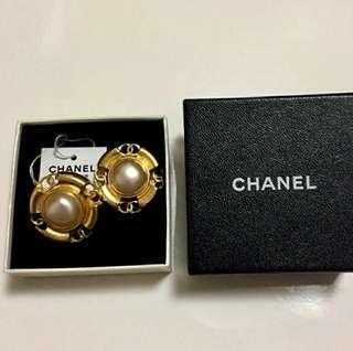 Vintage Chanel复古夾式耳環