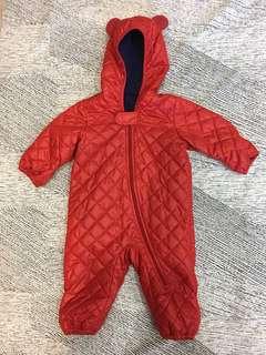 🚚 uniqulo婴幼兒外出服新生儿包脚包手雙層冬季连体衣