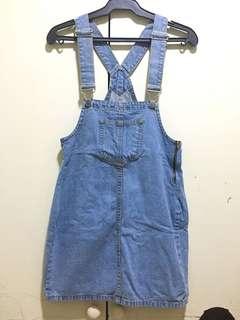 Penshoppe Denim Jumper Skirt