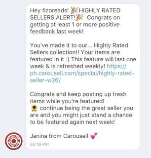 Thank you Carousell! ☺️