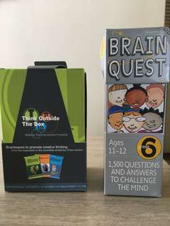 Brain Quest and Think Outside the Box Educational Children's Games