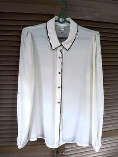 White Office Wear Blouse