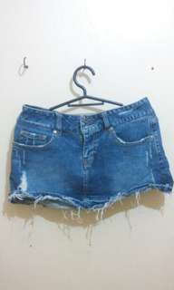 Mini skirt denim