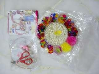 Kids Toy DIY Handmade craft, Girl Children Package Fun Toys for Handmade Beaded DIY Wear Beads Bracelet Necklace