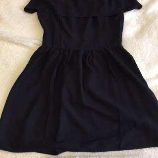 Abercrombie Off Shoulder Black Dress