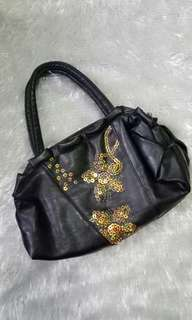 Black mini bag W sequins
