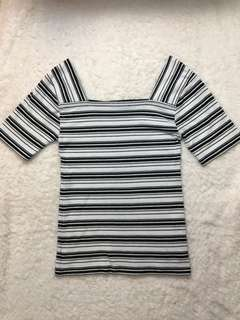 White & Black stripe shirt