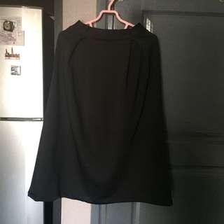 Scuba Black Midi Skirt