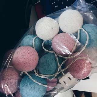 Cotton Ball Fairy Lights