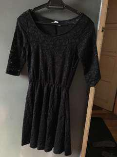Black lace dress (cotton on)