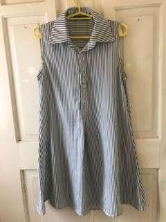 Stripe dress top
