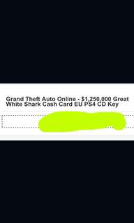 Grand theft auto sharkcard for ps4