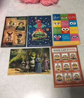 USS Shrek / Elmo / Minions Postcards