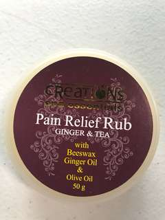 Pain Relief Rub (Ginger & Tea)