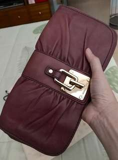 BNWT Michael Kors Webster Deep Red Clutch