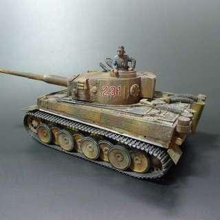 Built and painted Tamiya 1/35 German Tiger I early production model
