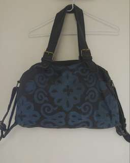 Leather print bag