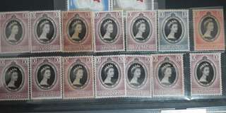 Malay Singapore full set mint 14v queen Elizabeth
