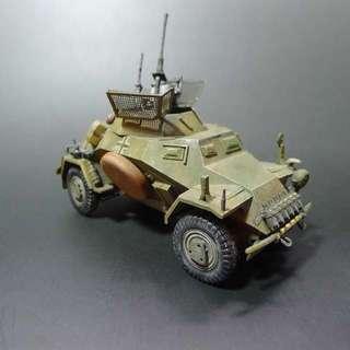 Built and painted 1/35 Scale Tamiya sd.sfz 222 Armoured Car