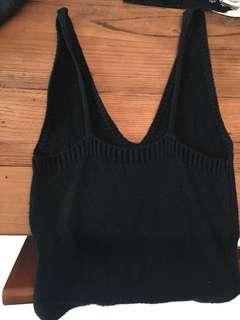 Brandy Melville 黑色針織V領上衣