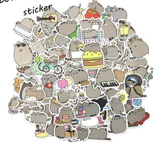 PO 50pcs Pusheen stickers
