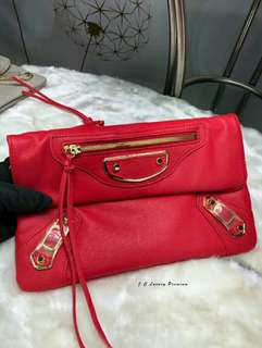 Balenciaga Clutch Red